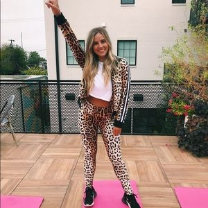 NWT buddy Love leopard jacket and leggings set